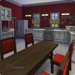 Sims 4 Download – classic familiy home Mia: dining and kitchen