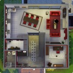Sims 4 Download – classic familiy home Mia: floorplan ground floor