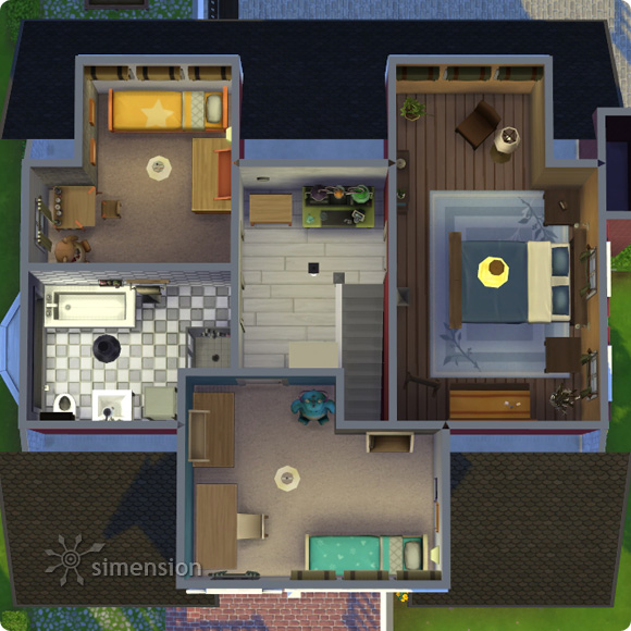 Sims 4 download residental lot classic family mia for Sims 4 floor plans