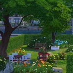 Sims 4 Download – classic familiy home Mia: garden with gaming area