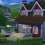 Sims 4 Download – classic familiy home Mia: patio with BBQ