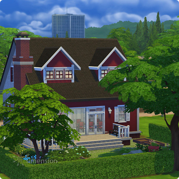 Sims 4 download residental lot classic family mia for Classic family home