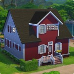 Sims 4 Download – classic familiy home Mia: front view