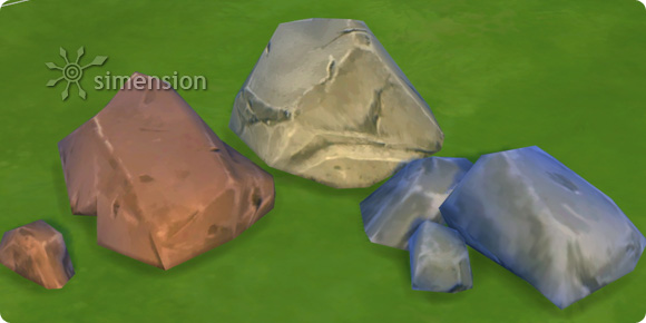 The Sims 4 ingame stone colors